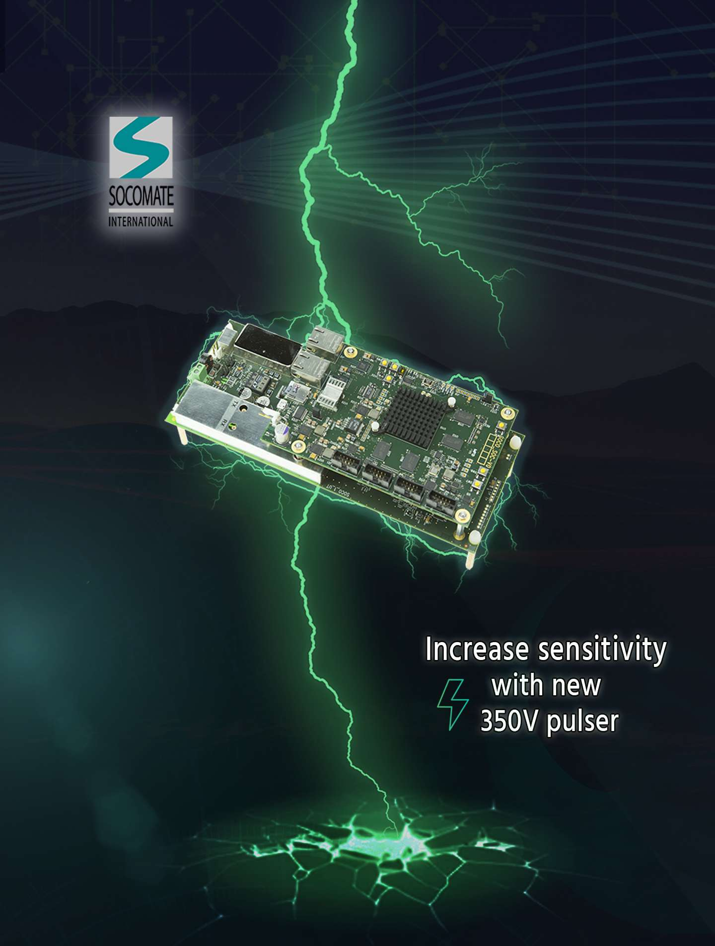 Increase sensitivity with a higher UT pulser